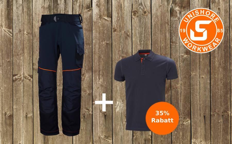 Arbeitshose + Poloshirt mit 35% Rabatt