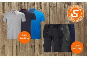 15% Rabatt auf alle Shorts und Poloshirts
